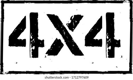 4x4 offroad emblem. Extreme Suv logo vector illustration