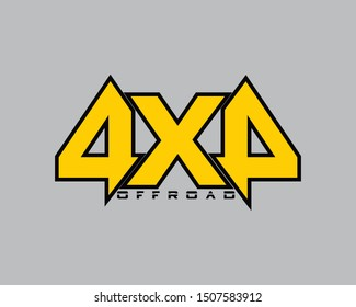 4x4 off-road vector logo modern