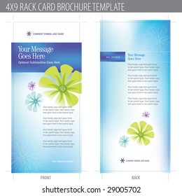 4x9 Rack Card Brochure Template (includes cropmarks, bleeds, and keyline)