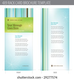 4x9 Rack Card Brochure Template (includes cropmarks, bleeds, and keyline - elements in layers)