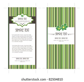 4x9 Two Sided Rack Card in Green Colors, vector, easy to edit text
