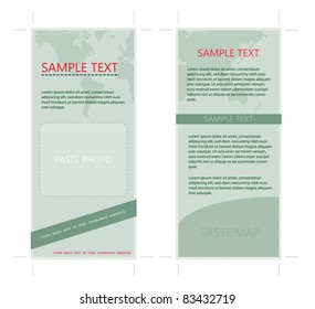 4x9 Two Sided Rack Card with Earth Theme, vector, easy to edit text