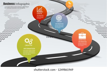 5 choice infographic framework. can be used for workflow layout, diagrams, option numbers, timelines and steps