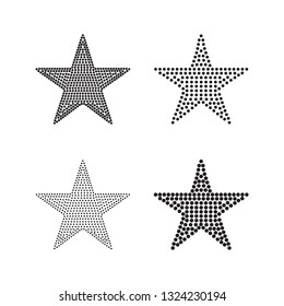 5 inch wide star-shaped blackline for Rhinestones or studs.