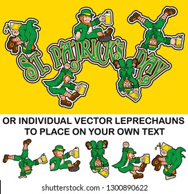 5 LEPRECHAUNS T-SHIRT AND POSES