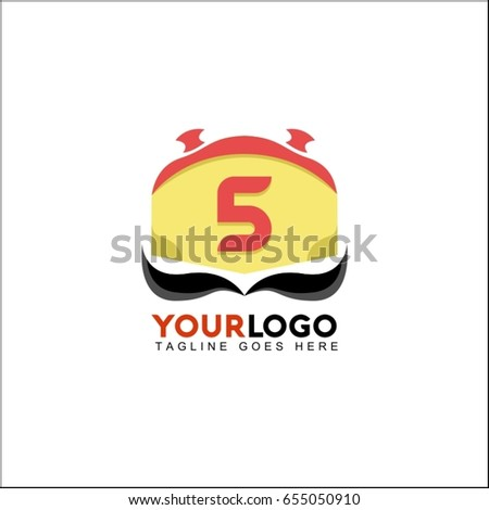 5 Letter Chef Logo Food Drink Stock Vector (Royalty Free
