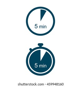 5 min. Timer icons