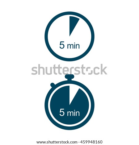 5 min timer icons stock vector royalty free 459948160 shutterstock