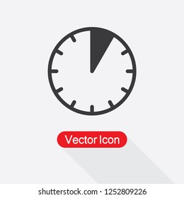 5 Minutes Icon Vector Illustration Eps10