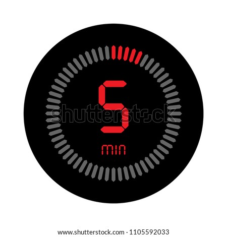 5 minutes stopwatch vector icon digital stock vector royalty free