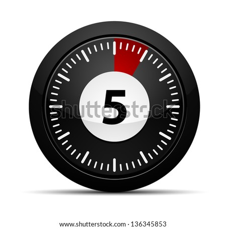5 minutes timer stock vector royalty free 136345853 shutterstock