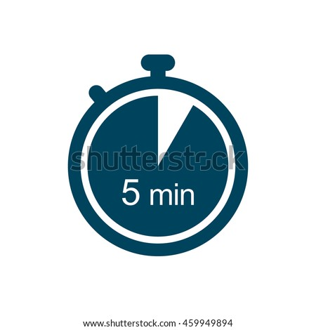 5 minutes timer icon のベクター画像素材 ロイヤリティフリー