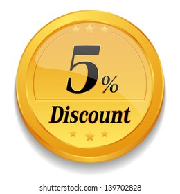 5 percent discount coin