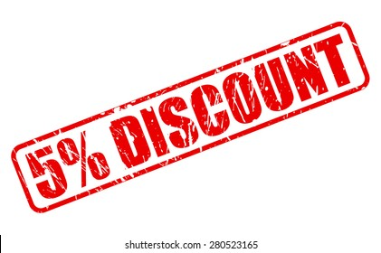 5 percent discount red stamp text on white