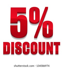 5 percent discount text