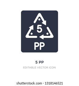 5 pp icon on white background. Simple element illustration from UI concept. 5 pp icon symbol design.