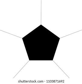 5 sided Geometric pattern