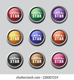 5 Star Colorful Vector Icon Design