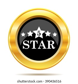 5 star icon. Internet button on white background. EPS10 vector.