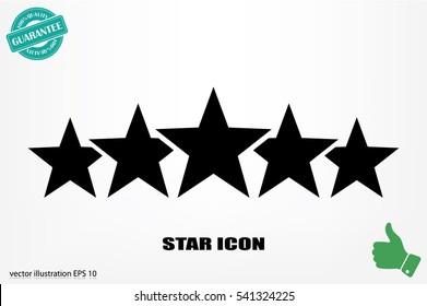 5 star icon vector illustration eps10.