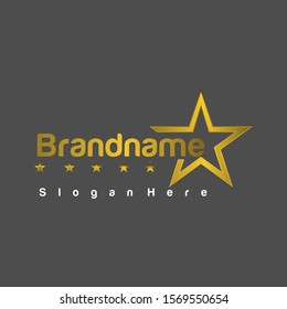 5 star logo, with a simple and elegant design.