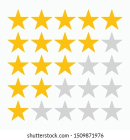 5 star rating icon vector illustration