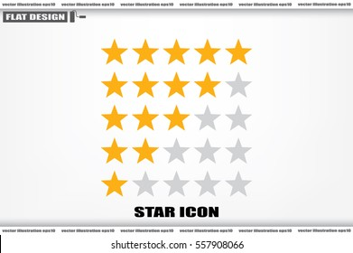 5 star rating icon vector illustration eps10. Isolated badge for website or app - stock infographics