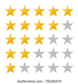 5 star rating. Vector illustration eps10. Isolated badge for website or app - stock infographics