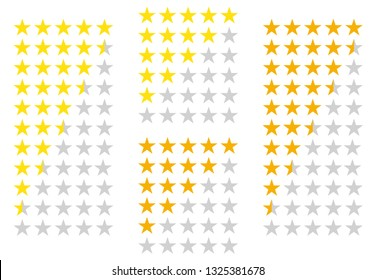 5 stars rating icon with 2 color variation