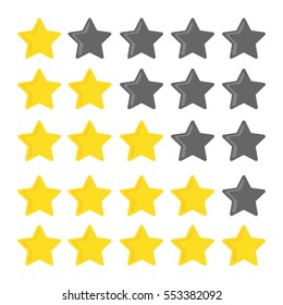 5 stars rating set