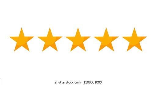 5 stars symbol. Vector illustration