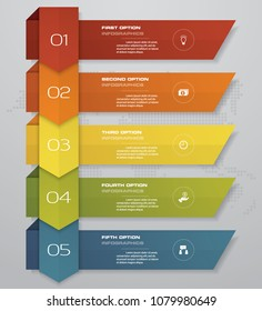5 steps of arrow Infografics template. for your presentation. EPS 10.