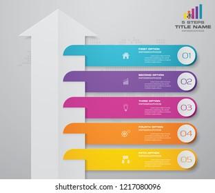 5 steps of arrow infografics template. for your presentation. EPS 10.
