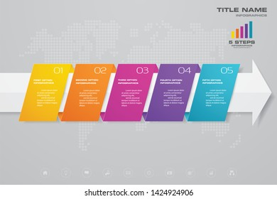 5 steps of arrow infografics template. for your presentation.