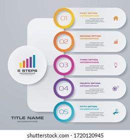 5 steps chart infographics element. EPS 10.