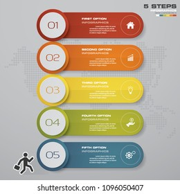 5 steps of Infografics template. for your presentation. EPS 10.