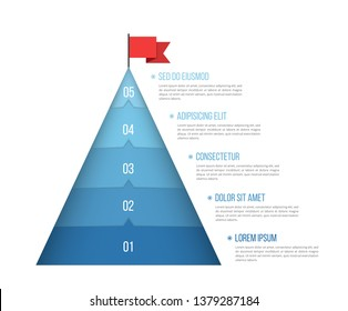 5 Steps to success, infographic template, vector eps10 illustration
