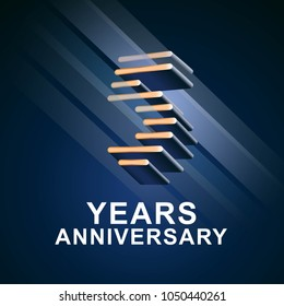 5 years anniversary vector icon,  logo. Graphic design element with nonstandard elegant font for 5th anniversary