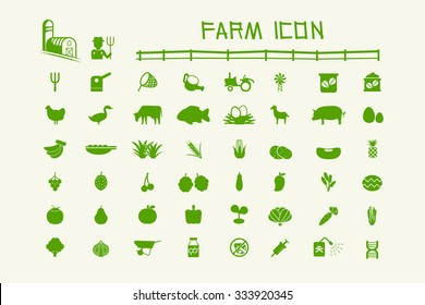 50 common icon farm and organic. Cattle ,Crops,Insecticide, Genetic engineering and Agricultural Equipment.