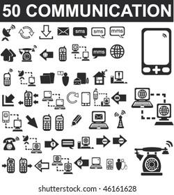 50 Communication Icons Set