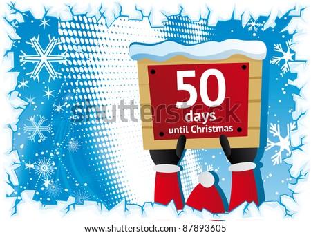 50 days until christmas vector christmas message - Sleeps Until Christmas