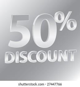 50% Discounts / vector