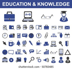 50 Education Signs (Vector)