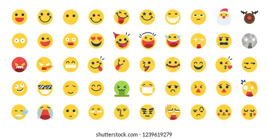 50 Emoji icon set. Included the icons as happy, emotion, face, feeling, emoticon and more.