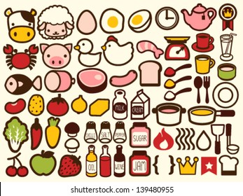 50+ Food and Drink Icon - Vector File EPS10