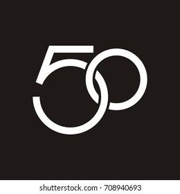 50 letter logo design template