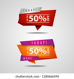 50% off. Banner's