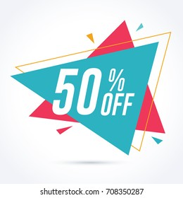 50% off discount and sale promotion banner