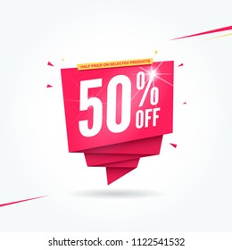 50% Off Half Price Commercial Tag