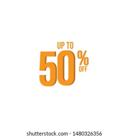 up to 50 % off Illustration Vector, design for banner, greeting card, poster or print